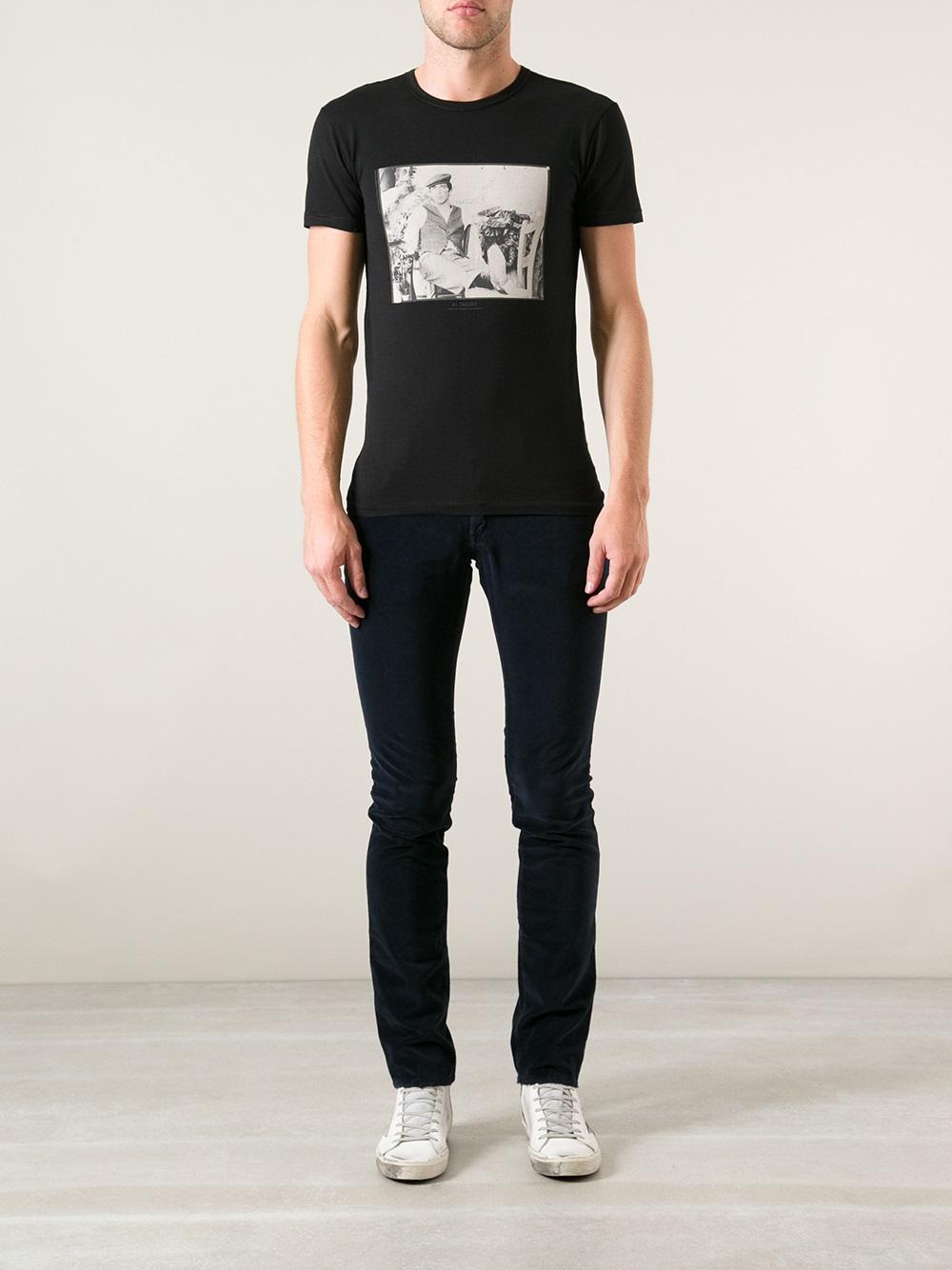 Lyst dolce gabbana al pacino print tshirt in black for men for T shirt printing mobile al