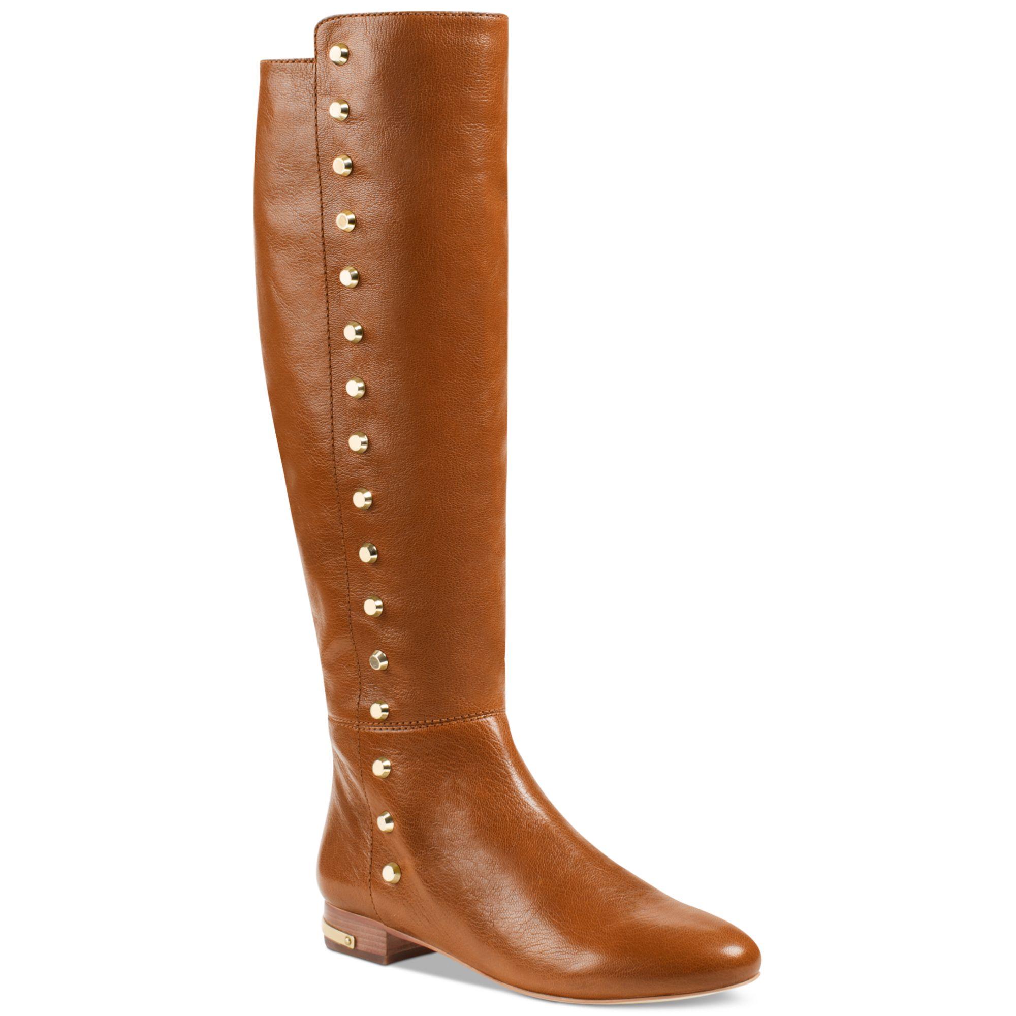 michael kors ailee flat boots in brown walnut lyst