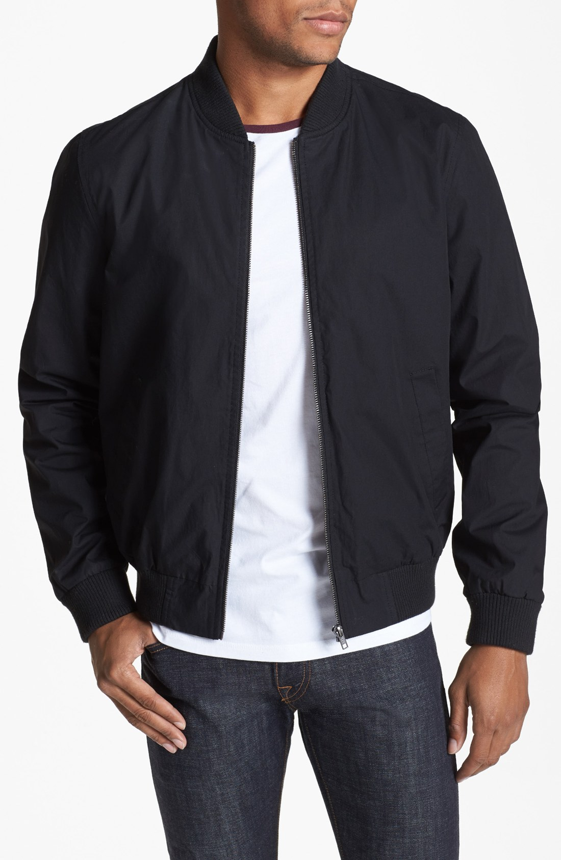 Black Bomber Jacket Topman - My Jacket