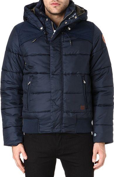 g star raw whistler hooded bomber jacket in blue for men. Black Bedroom Furniture Sets. Home Design Ideas