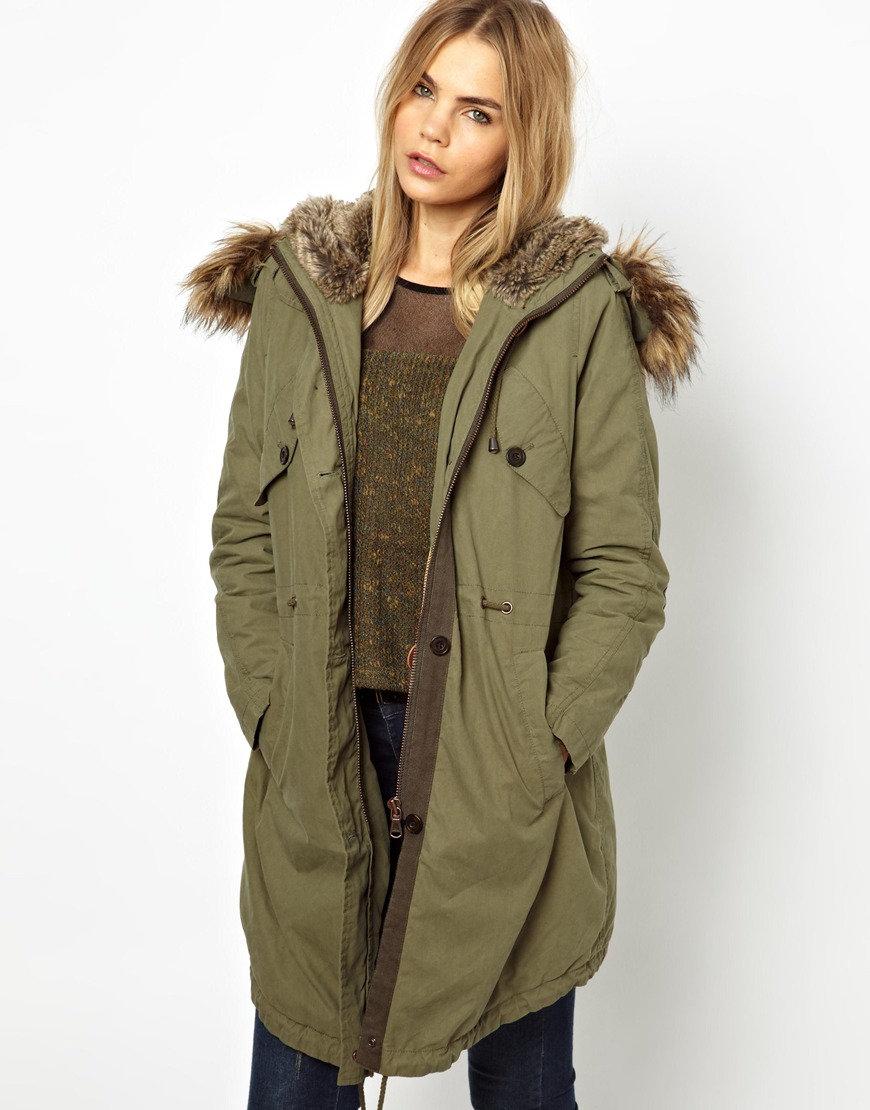 Aldo Parka London Levina Parka with Detachable Faux Fur Trim in