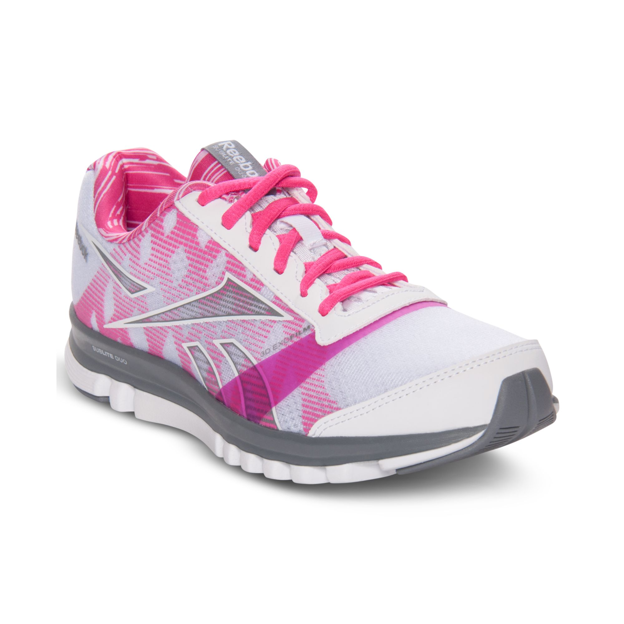 Lyst - Reebok Sublite Duo Breast Cancer Running Sneakers in Pink d2066be34