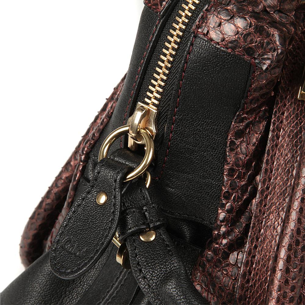 Chlo¨¦ Paraty Medium Metallic Python Shoulder Bag in Brown (Gold ...