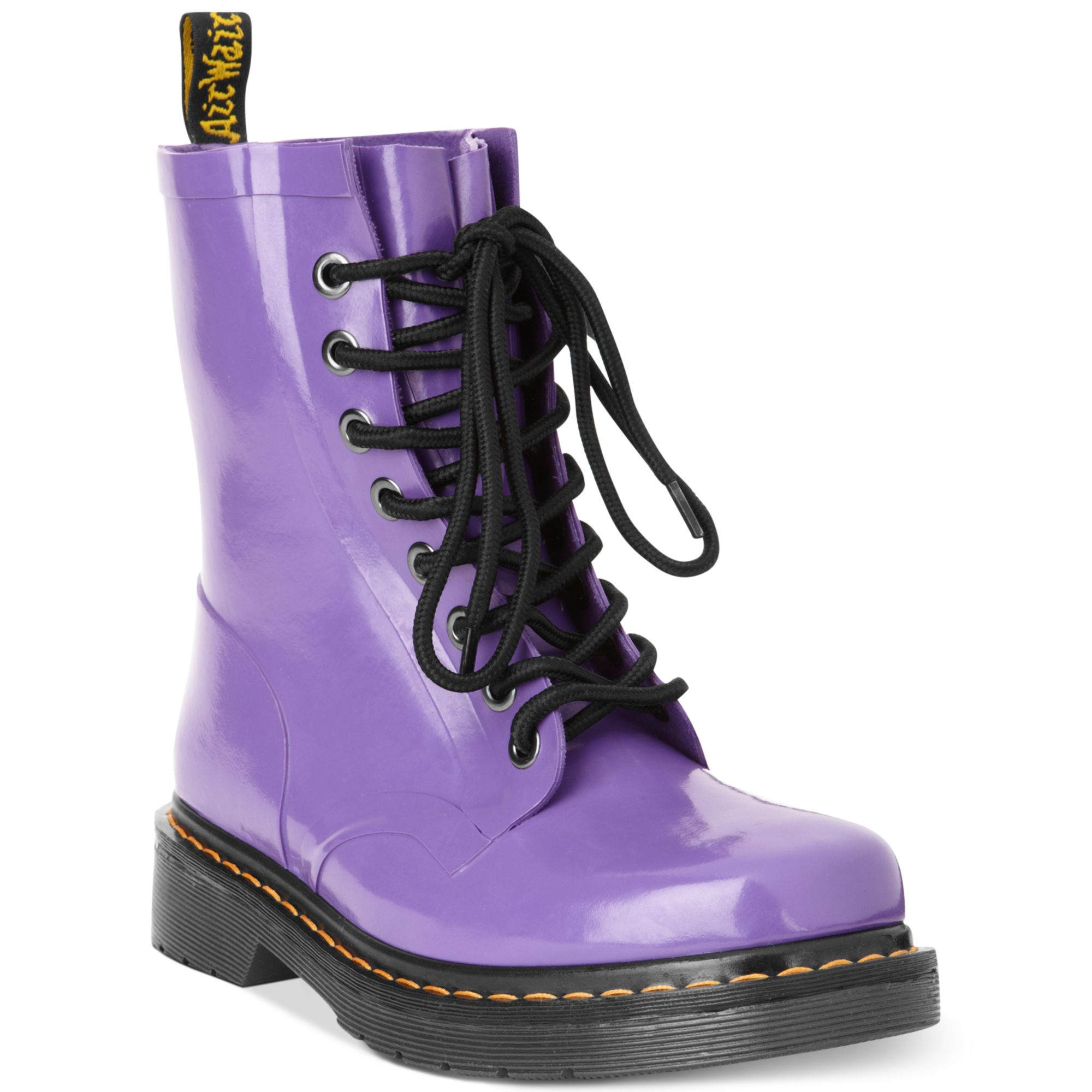 Dr Martens Drench Welly Rain Booties In Purple Lyst