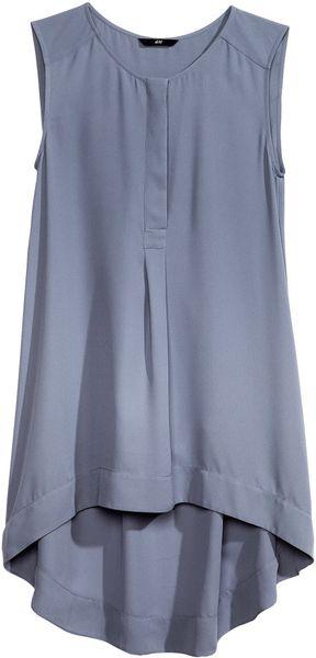 H&M Blue Sleeveless Blouse 103