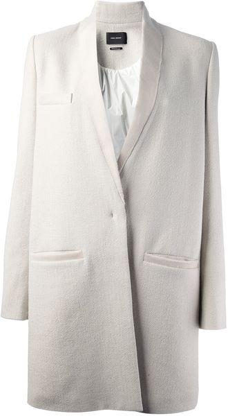Isabel Marant Oversize Coat in White