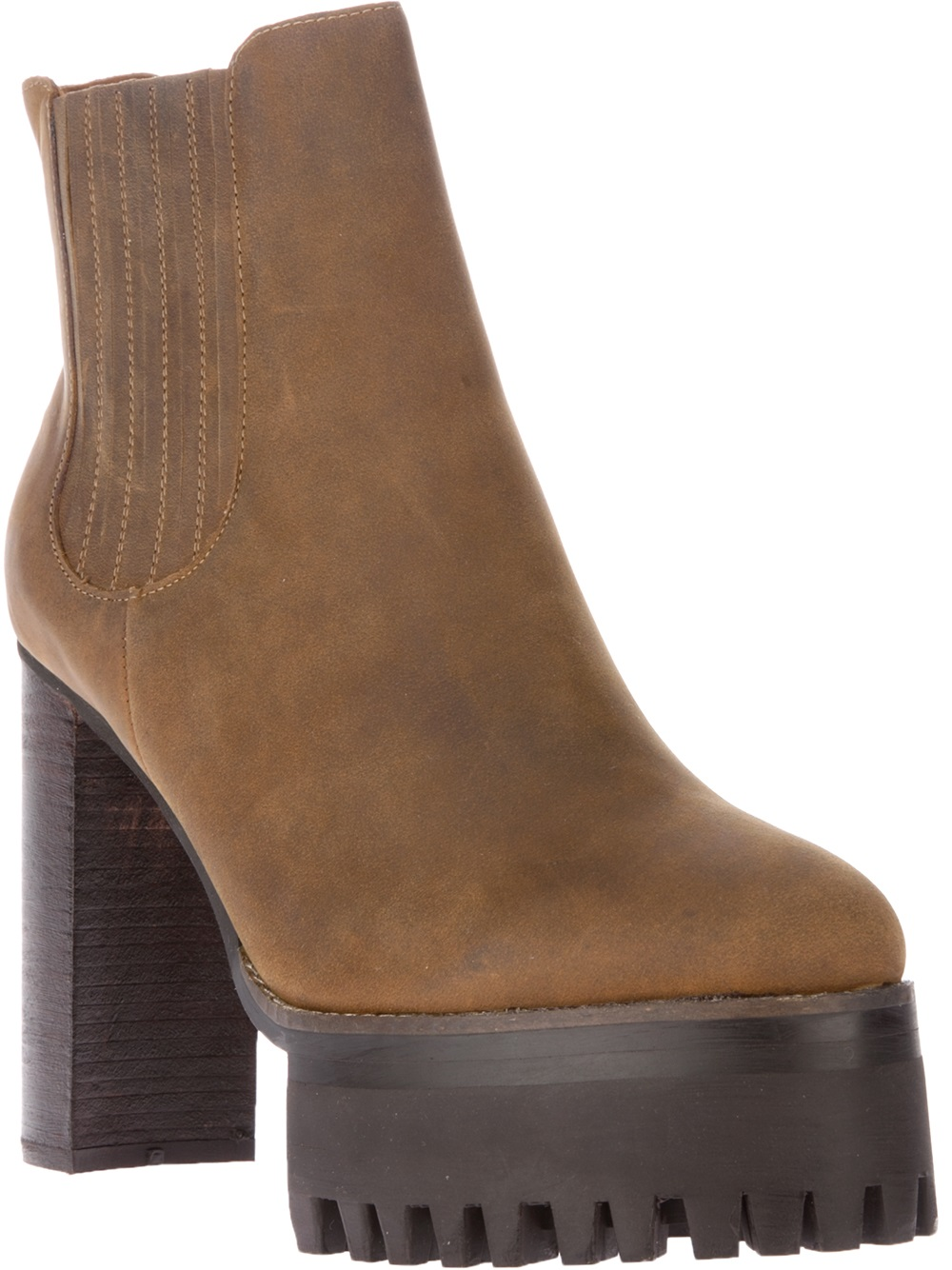 jeffrey cbell cura wedge ankle boot in brown lyst