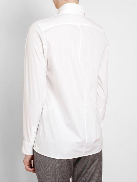 Jil Sander Slim Tailored Cotton Shirt In White Lyst