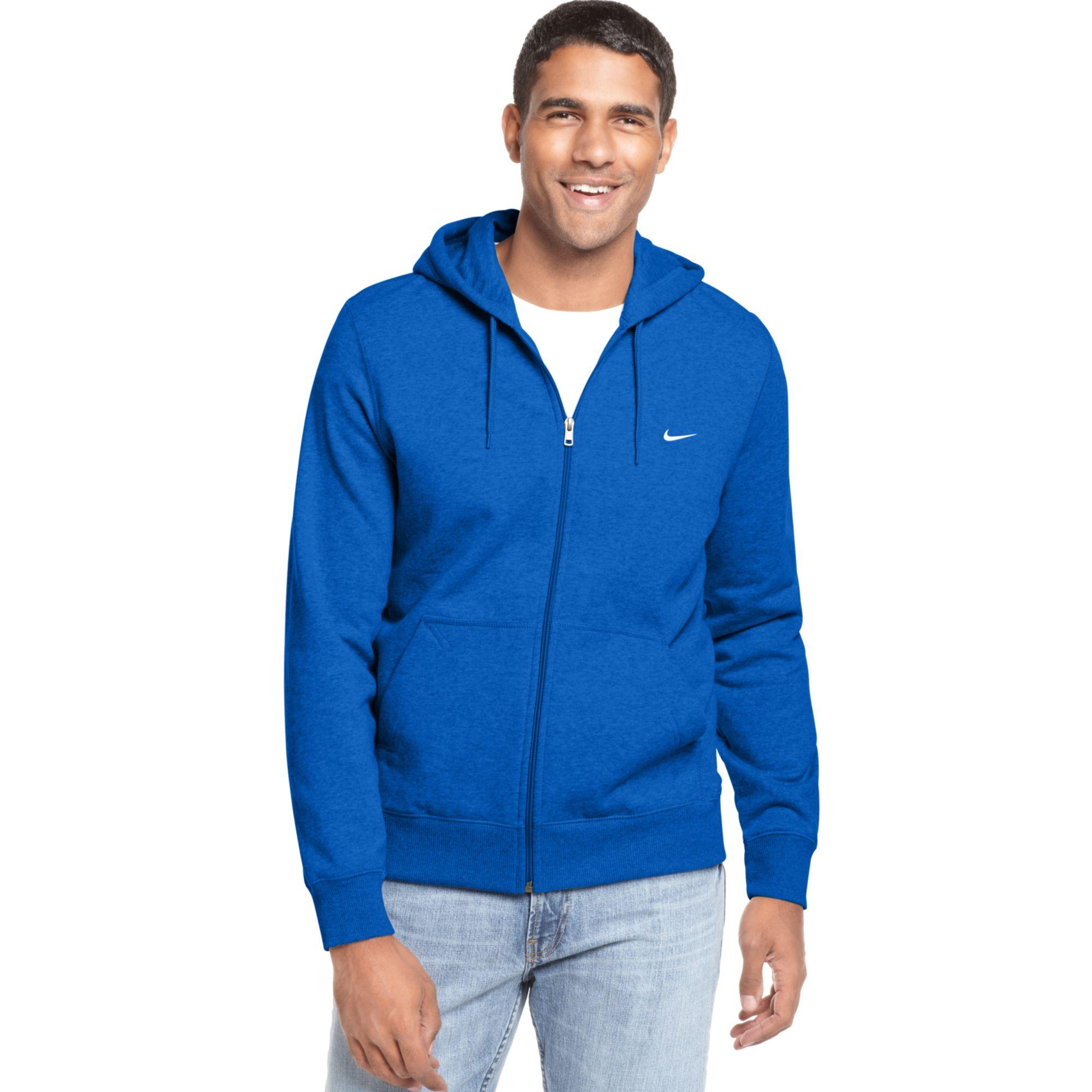 4477f8625d42 Lyst - Nike Classic Fleece Full Zip Hoodie in Blue for Men