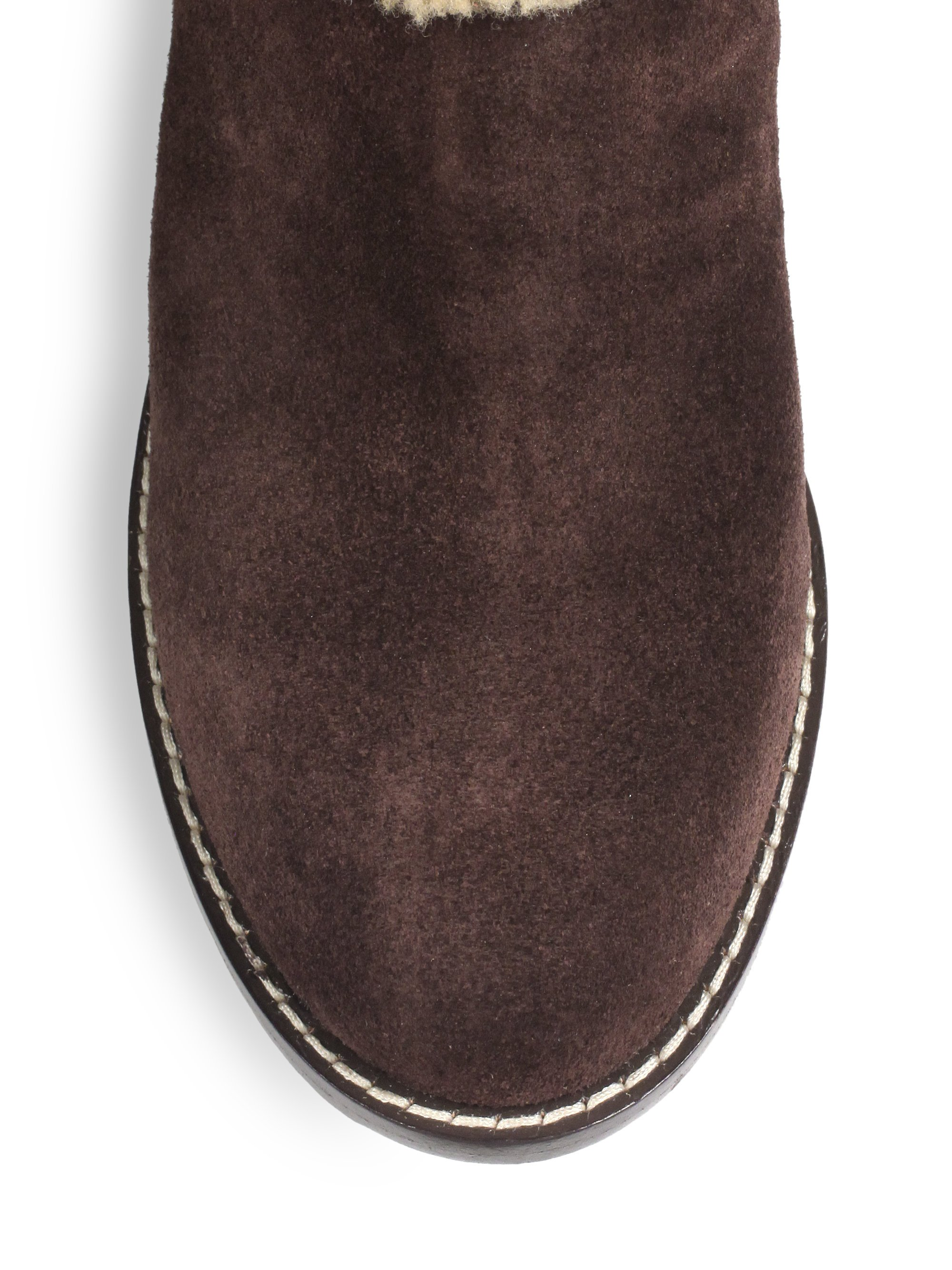 Lyst Ugg Aubrie Suede Wedge Boots In Brown