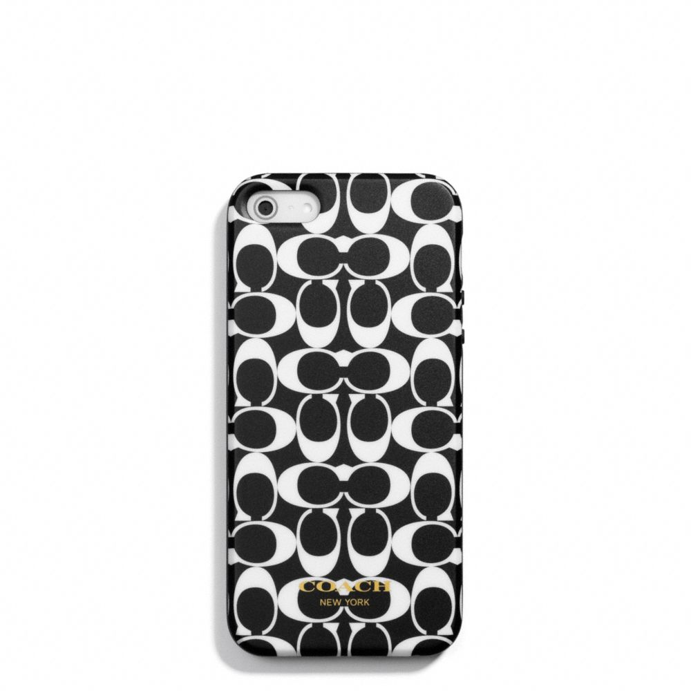 Lyst Coach Iphone 5 Case In Signature Silicone Black 1 Gallery