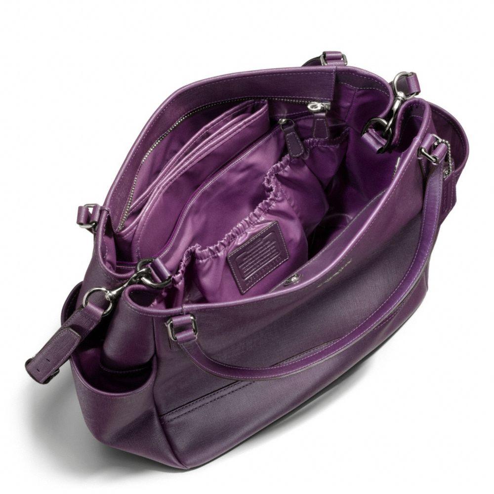 2014c2deb5d5 ... low price lyst coach baby bag tote in saffiano leather in purple acc5b  e726a