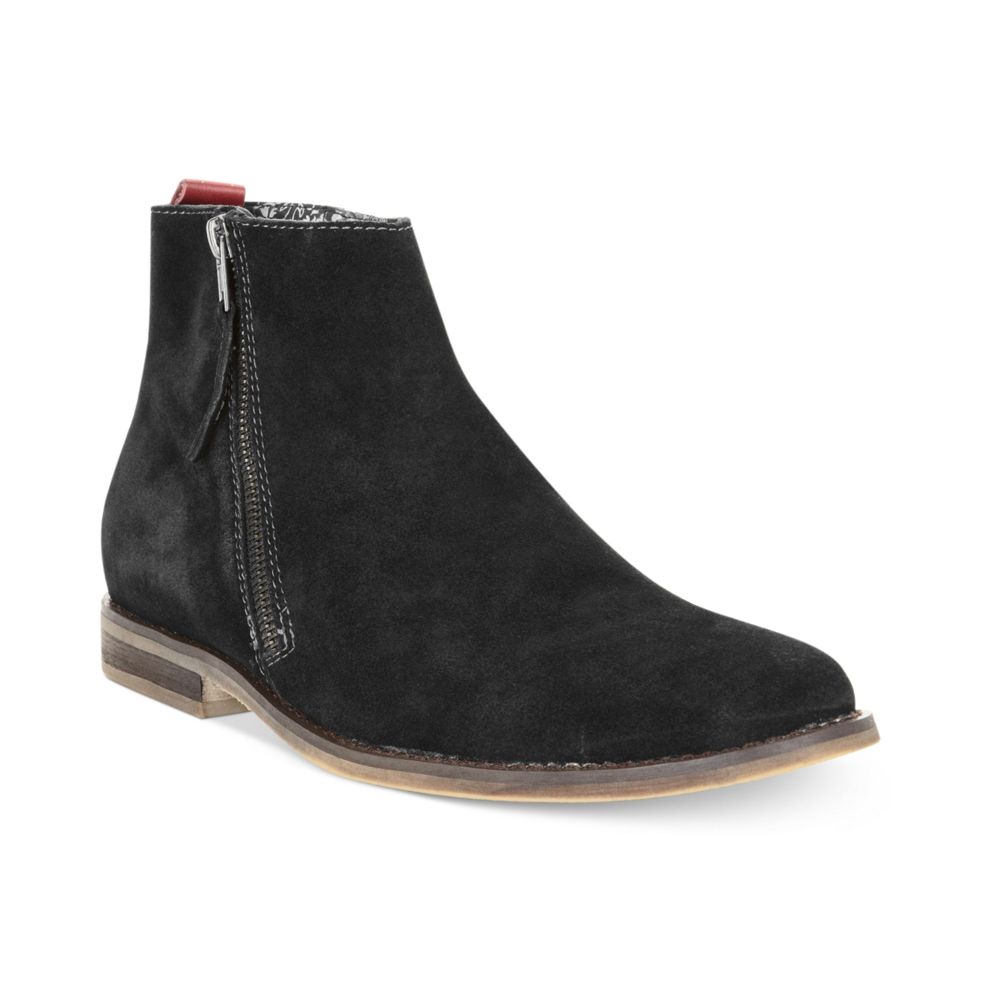 Lyst - Guess Mens Shoes Hanley Zip Boots in Black for Men