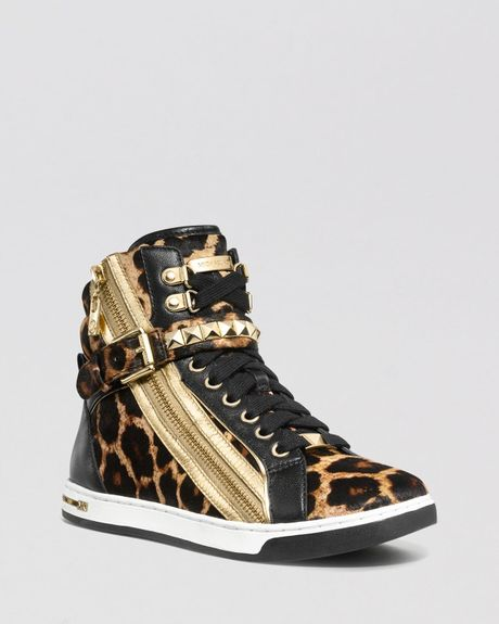 Michael Michael Kors High Tops Glam Studded in Animal (Natural)