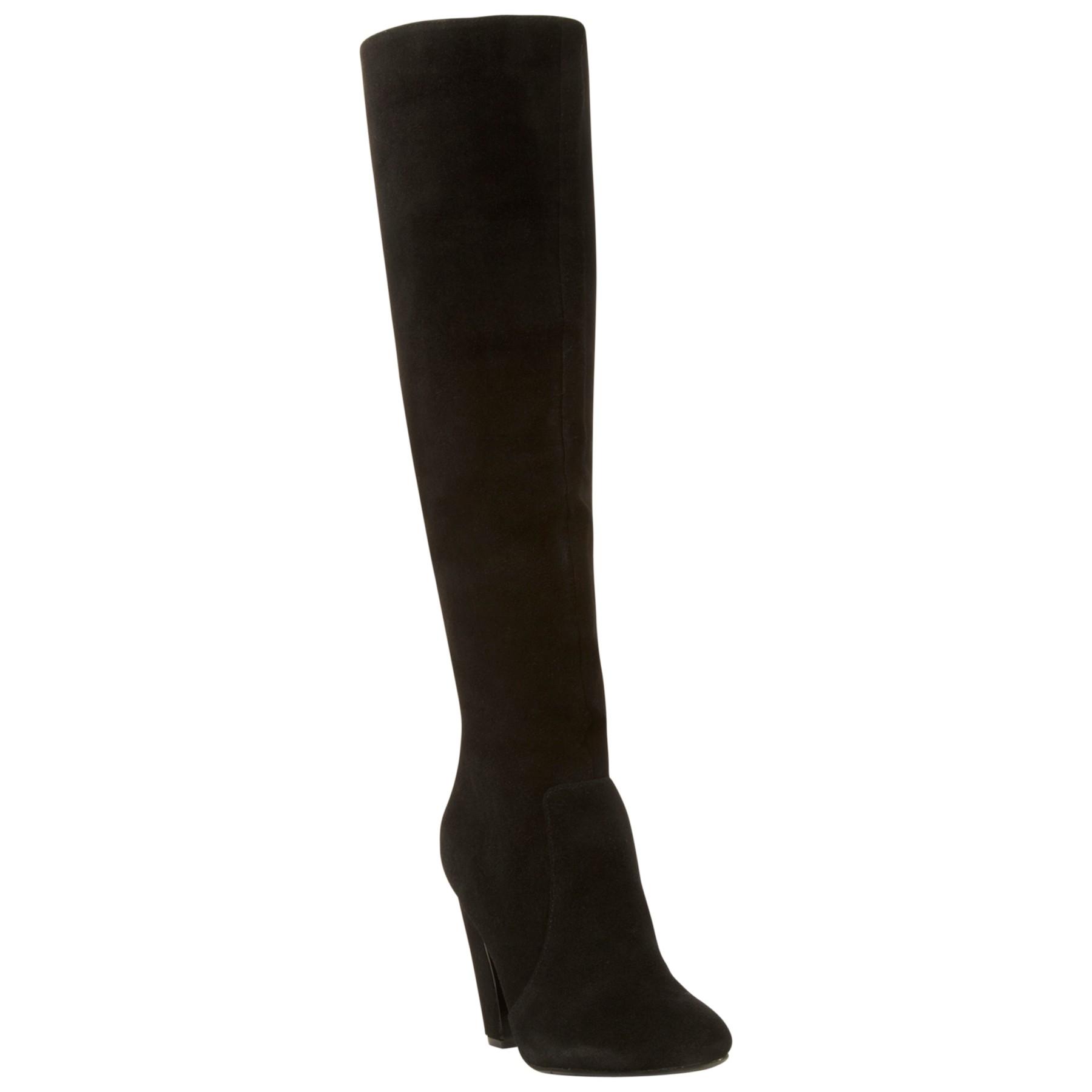 steve madden priscilla suede knee high boots in black lyst