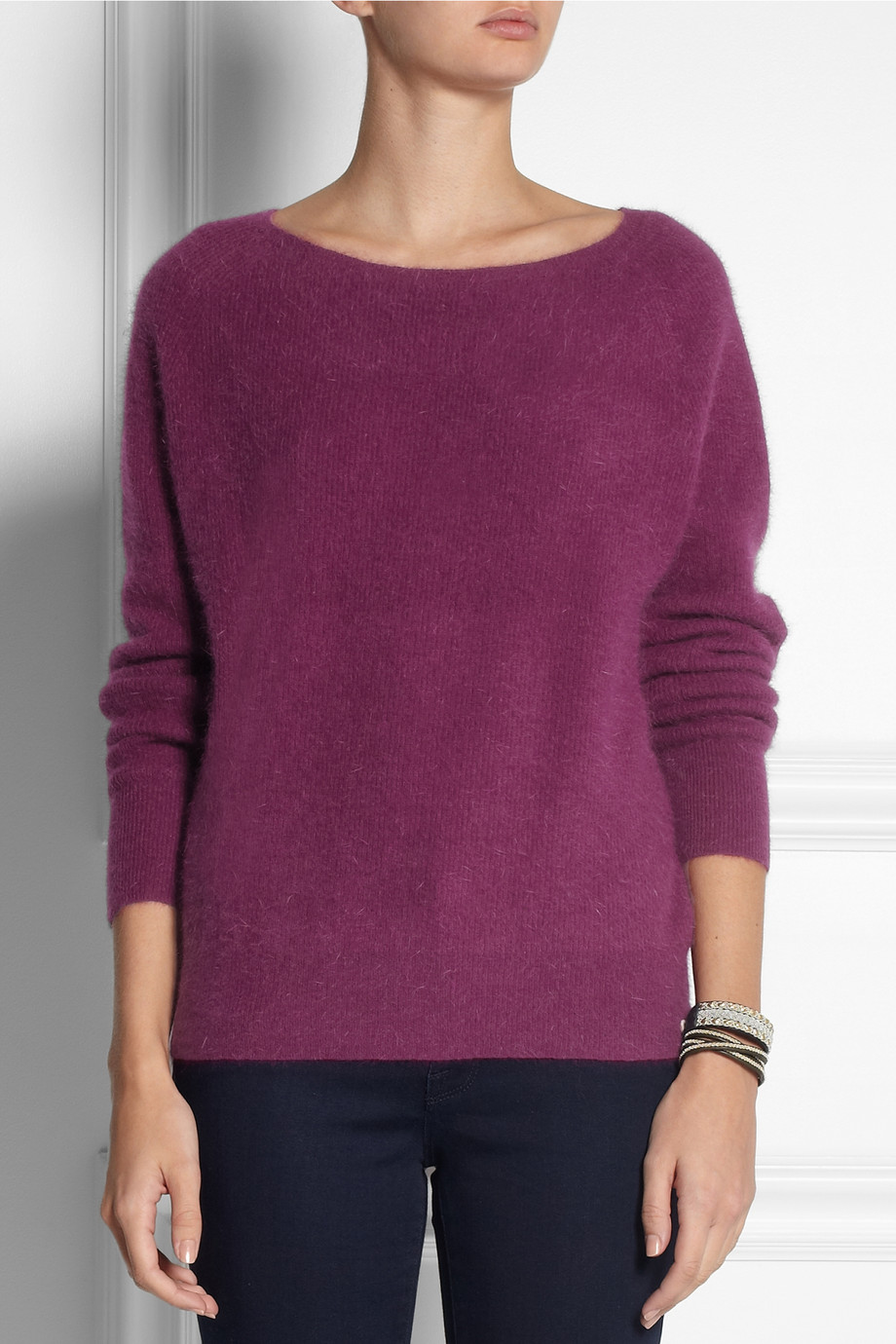 American vintage Nine Nile Falls Angora-Blend Sweater in Purple | Lyst