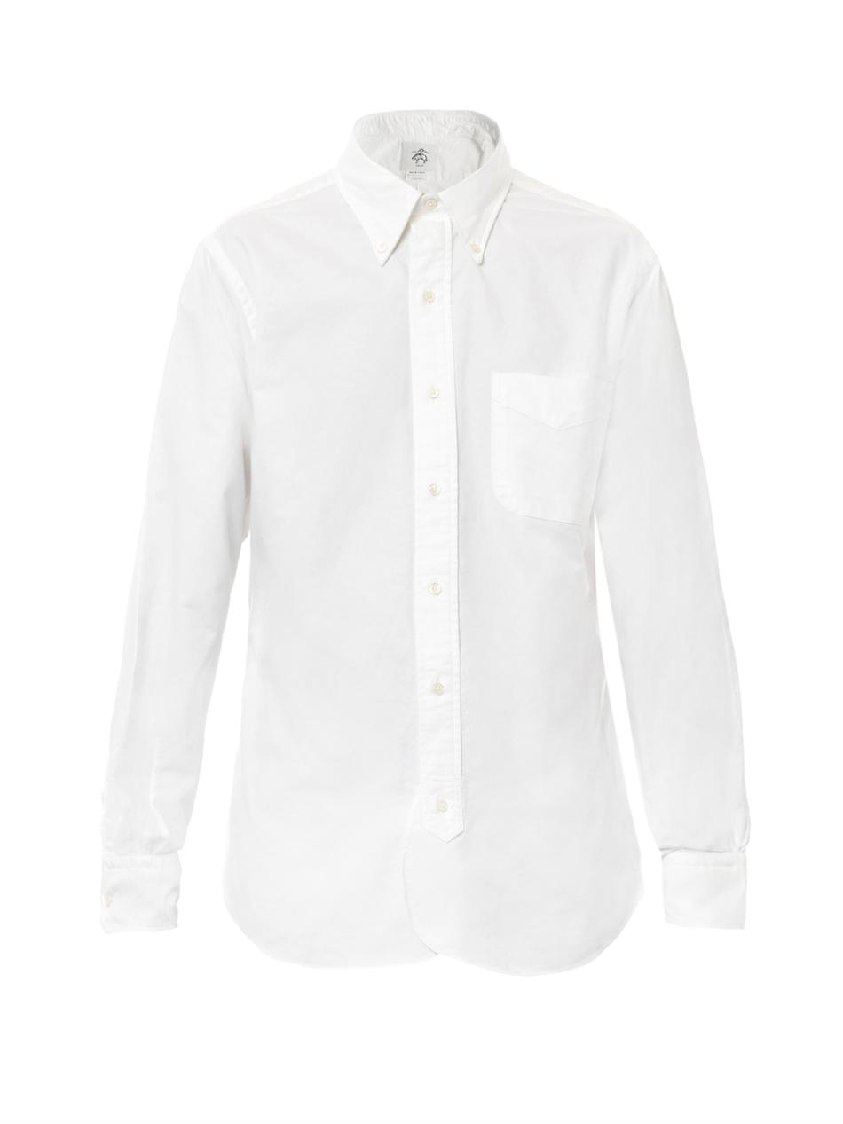 Black fleece by brooks brothers Button Down Cotton Shirt in White ...