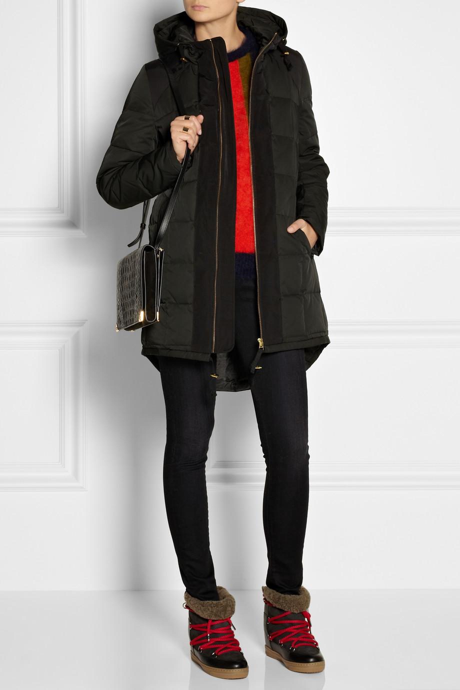 lyst day birger et mikkelsen day outing quilted down coat in black. Black Bedroom Furniture Sets. Home Design Ideas