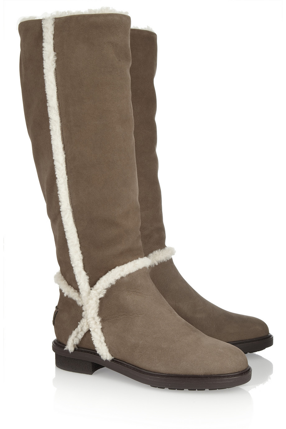 cheap sale perfect cheap price free shipping Fendi Shearling-Trimmed Knee-High Boots I8sz1DZ