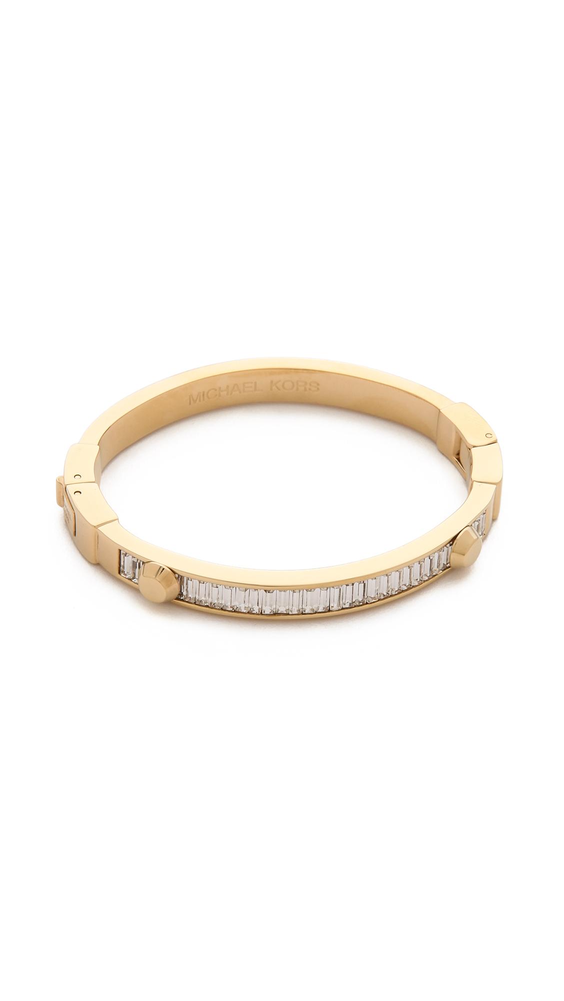 michael kors baguette astor bangle bracelet in gold gold. Black Bedroom Furniture Sets. Home Design Ideas