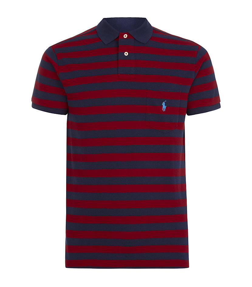 Polo Ralph Lauren Striped Pocket Polo Shirt in Red for Men ...