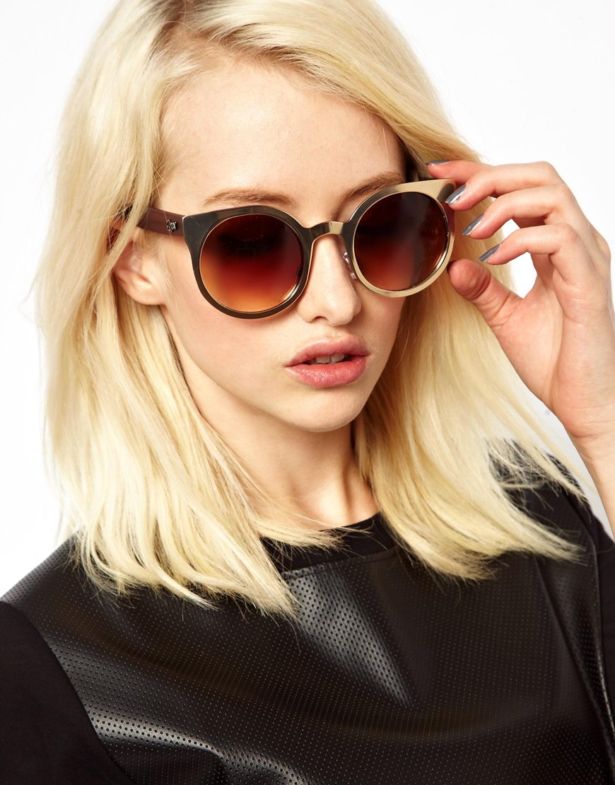 d9140e260b Quay Nikita Cat Eye Sunglasses in Brown
