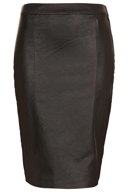 Topshop Black Panel Pencil Skirt in Black | Lyst