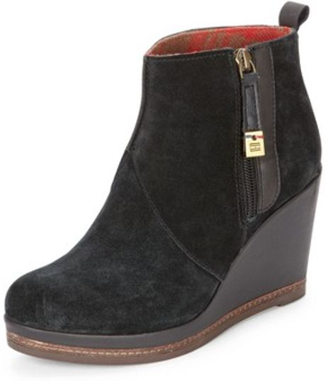 tommy hilfiger tommy hilfiger natalie wedge ankle boot in. Black Bedroom Furniture Sets. Home Design Ideas