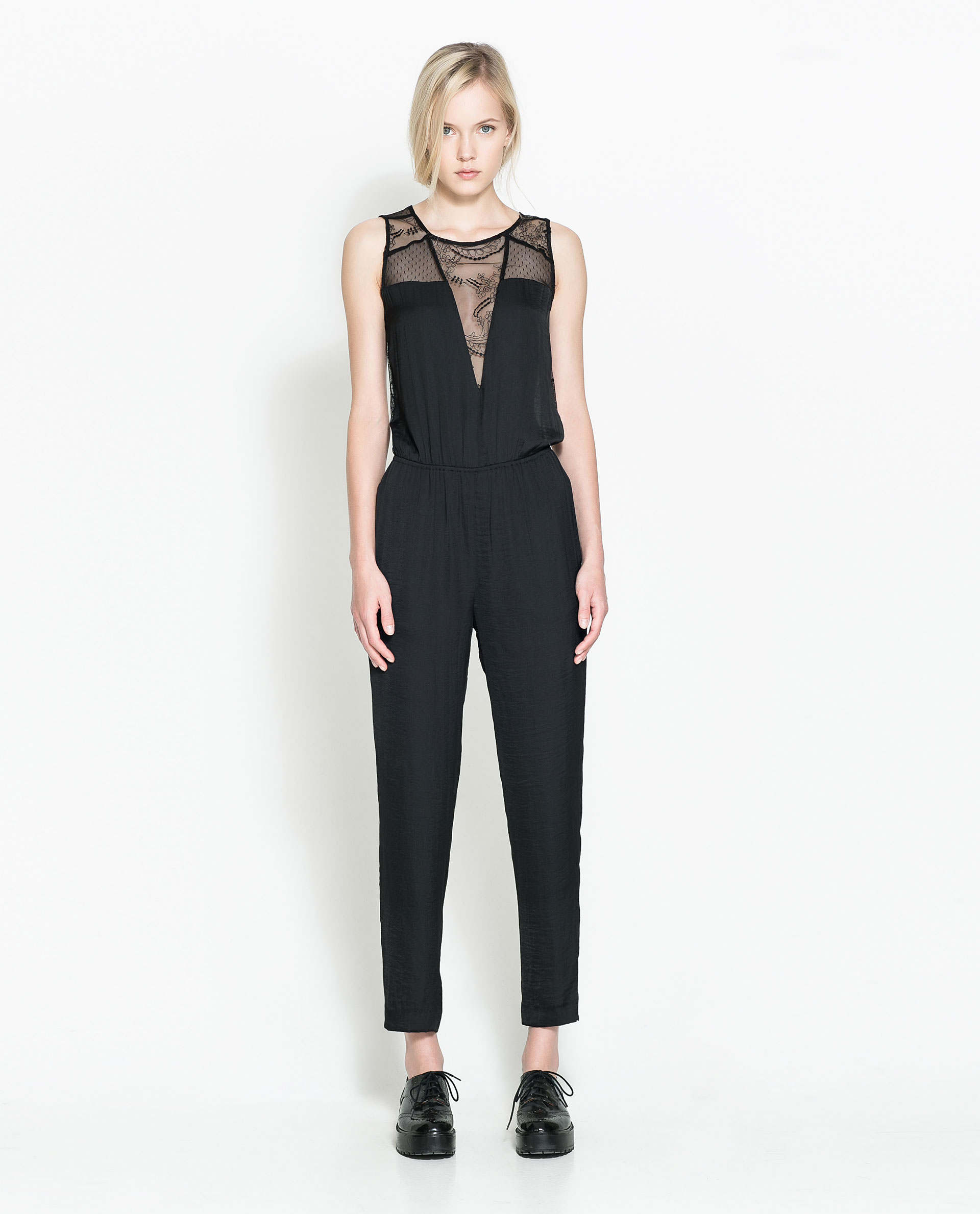 Amazing Zara Ribbed Jumpsuit In Gray  Lyst