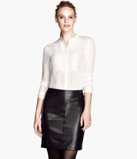 H&m Silk Blouse In White