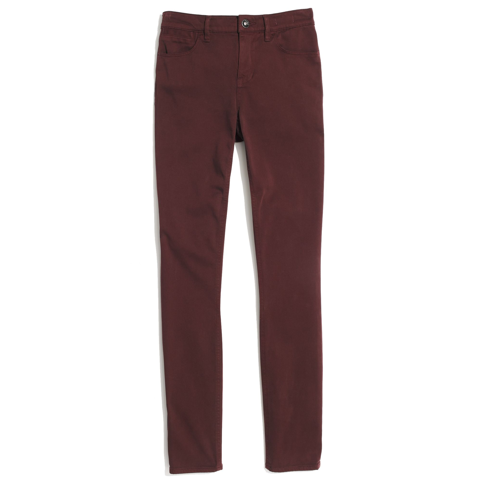 Burgundy Ankle Pants