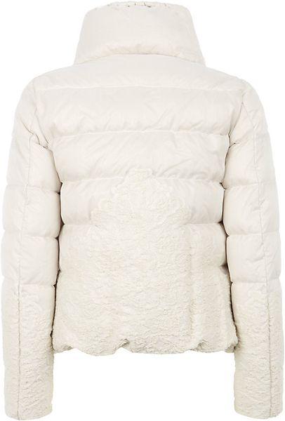 Moncler Panache Organza Jacket In White Ivory Lyst
