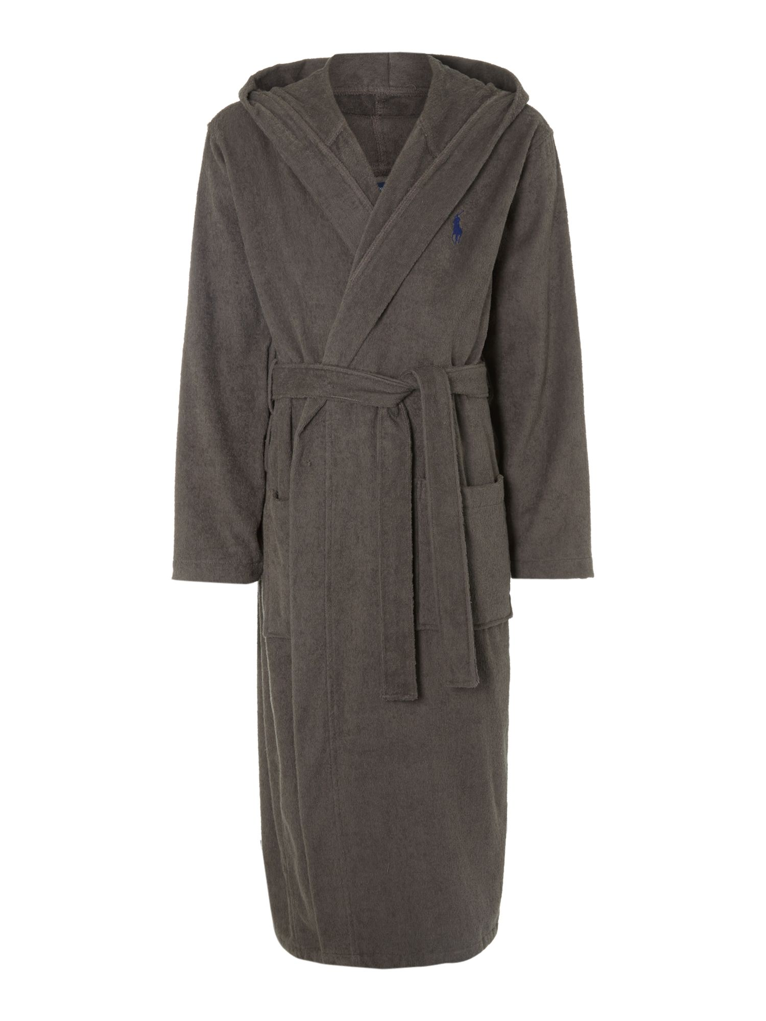 polo ralph lauren nightwear robe in gray for men grey lyst. Black Bedroom Furniture Sets. Home Design Ideas