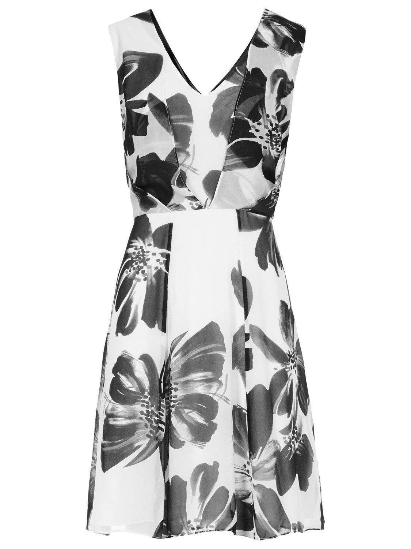 Reiss Alice Maxi Floral Print Silk Maxi Dress In White Lyst