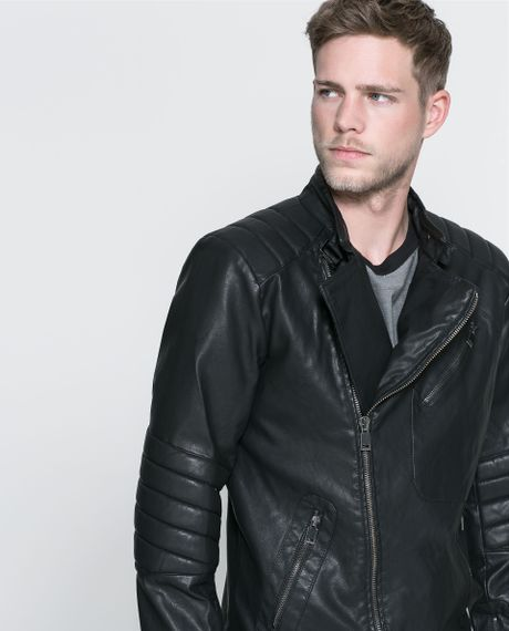 Zara Mens Faux Leather Jacket Cheap Clothing Stores