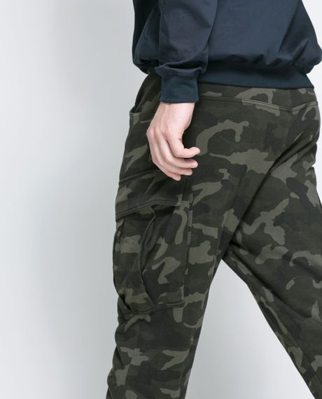Amazing Zara Camouflage Trousers In Multicolour For Men  Lyst