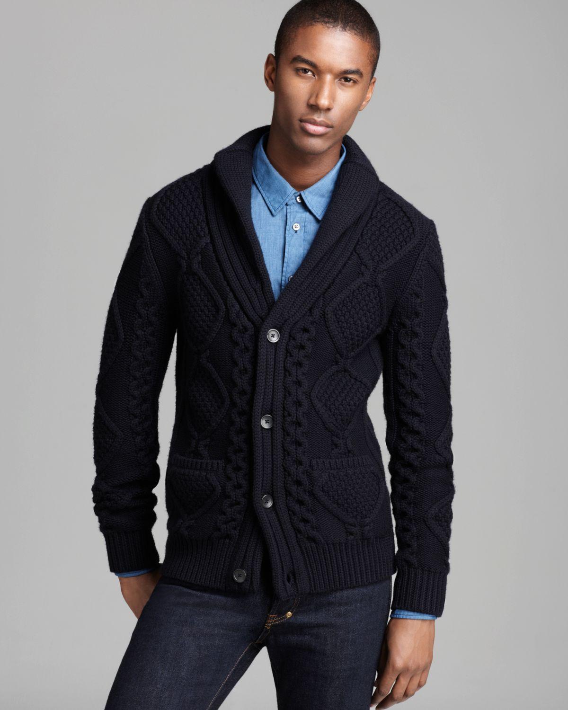 Elie tahari Felix Extra Fine Merino Cardigan Sweater in Blue for ...