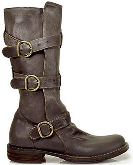 fiorentini baker 7040 eternity buckle boot in gray. Black Bedroom Furniture Sets. Home Design Ideas