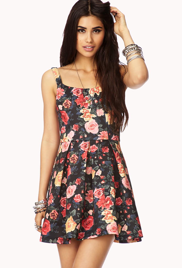 Lyst - Forever 21 Garden Party A-Line Dress in Red