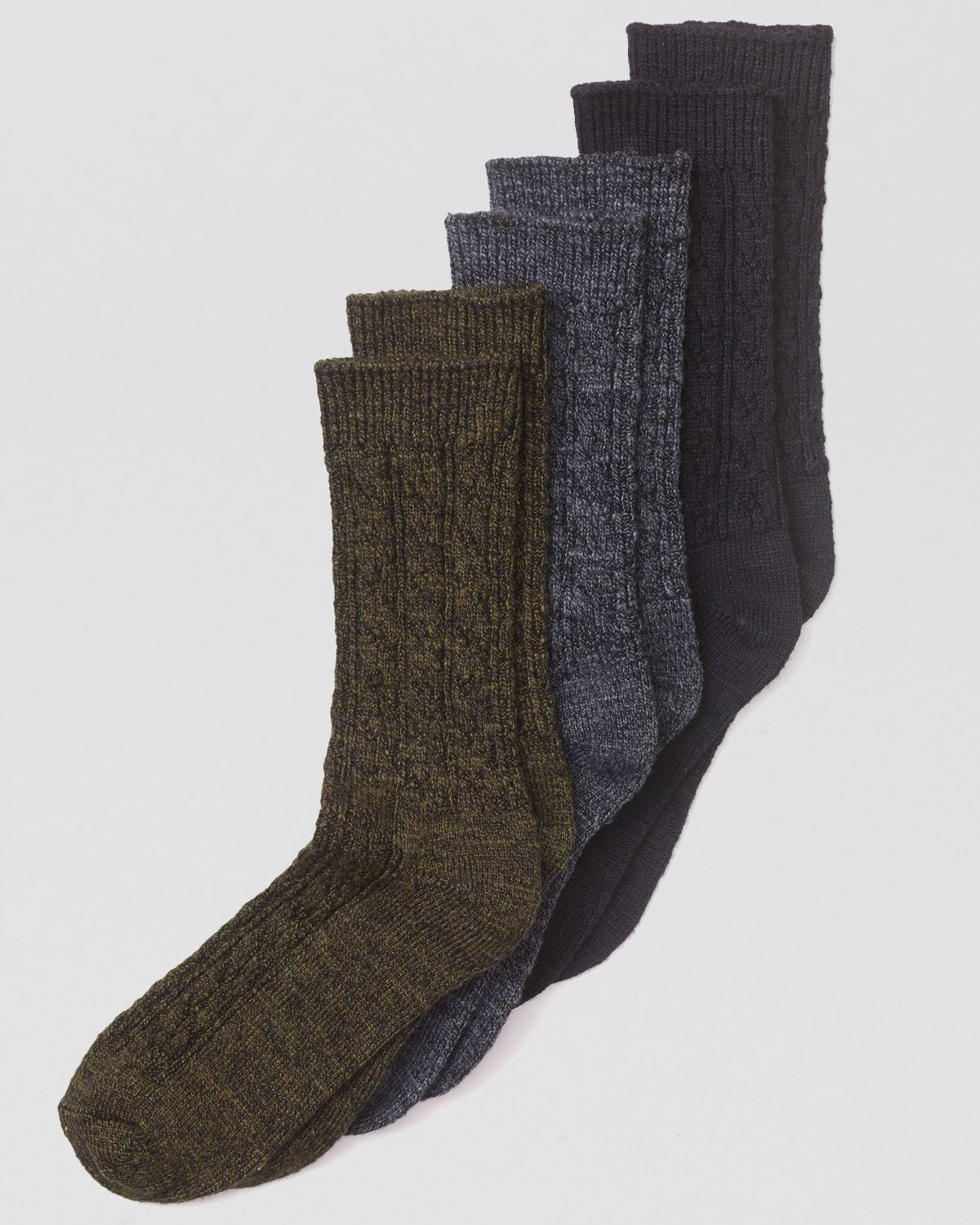 1281bd9962 Hue Cable Knit Boot Socks - Lyst