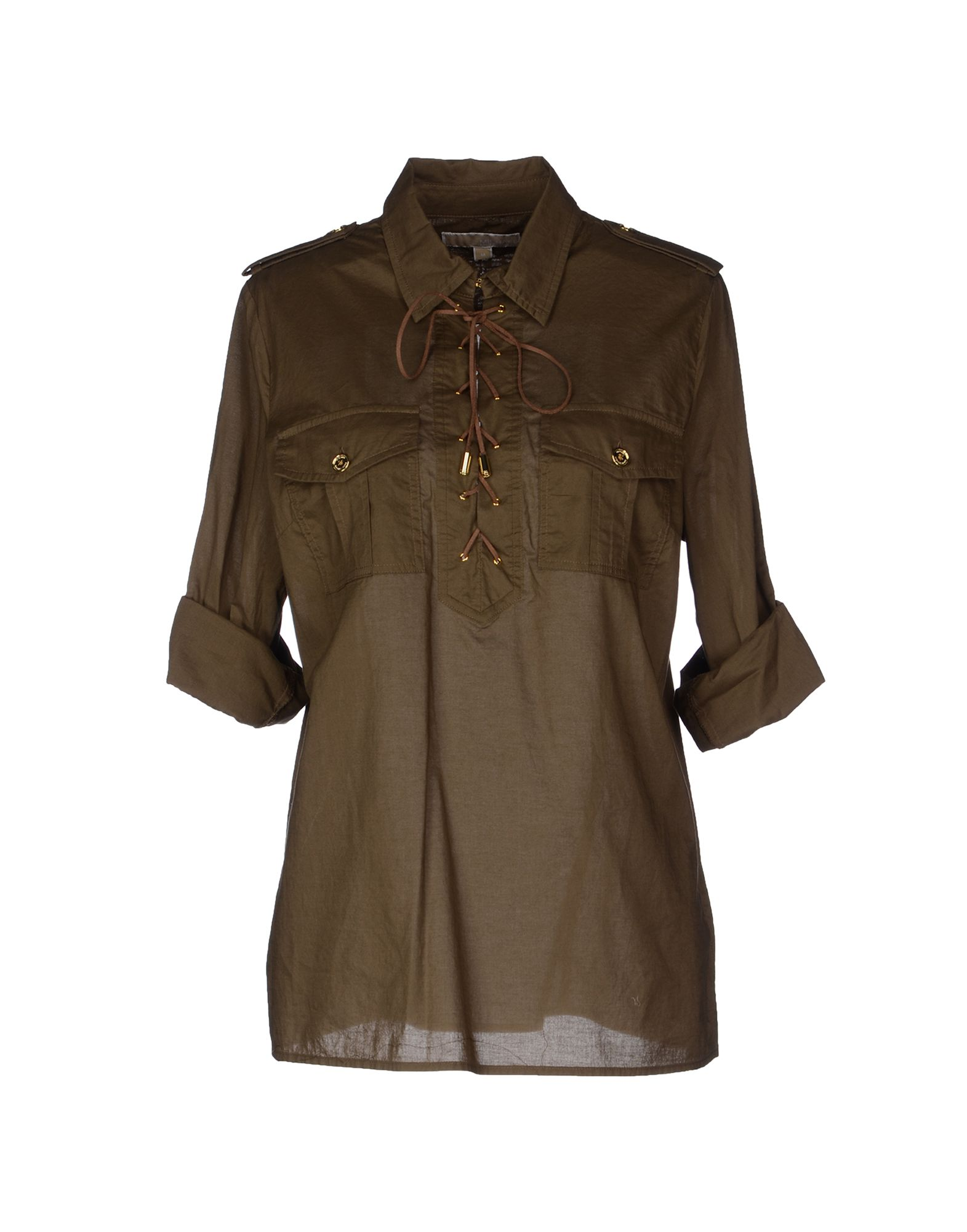 michael michael kors blouse in green military green lyst. Black Bedroom Furniture Sets. Home Design Ideas