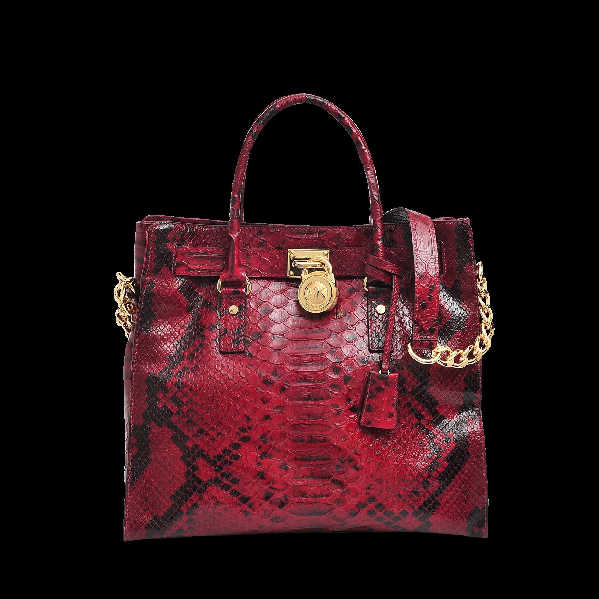 06b1f474736f74 Michael Kors Hamilton Large Python Print Bag in Red - Lyst