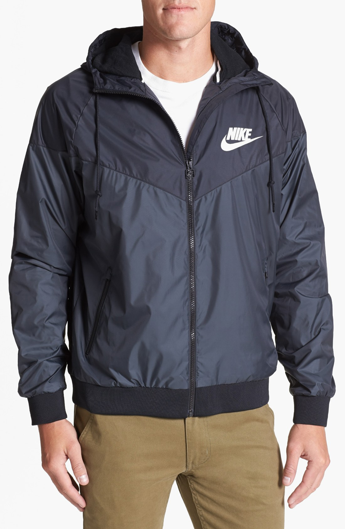 Nike Windrunner Hooded Jacket In Blue For Men Lyst