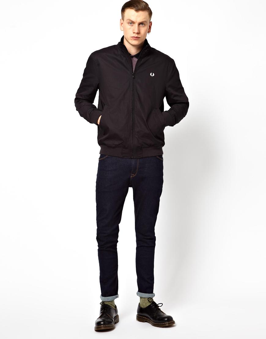 lyst fred perry sailing jacket in black for men. Black Bedroom Furniture Sets. Home Design Ideas