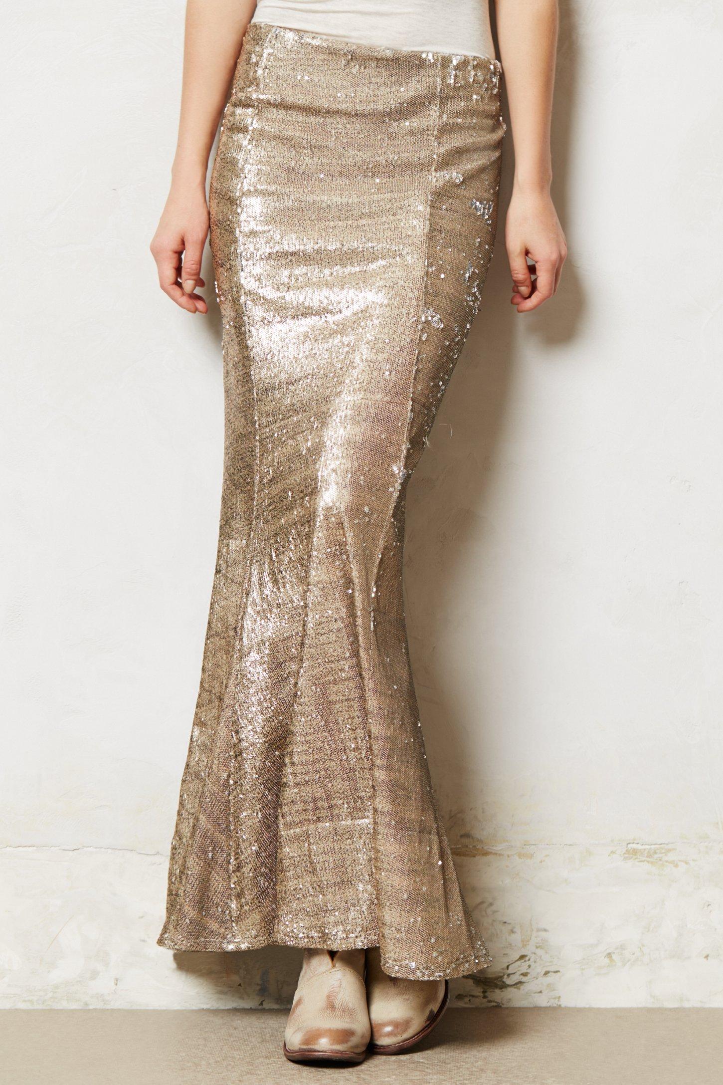 Line & dot Sirene Sequin Skirt in Metallic | Lyst