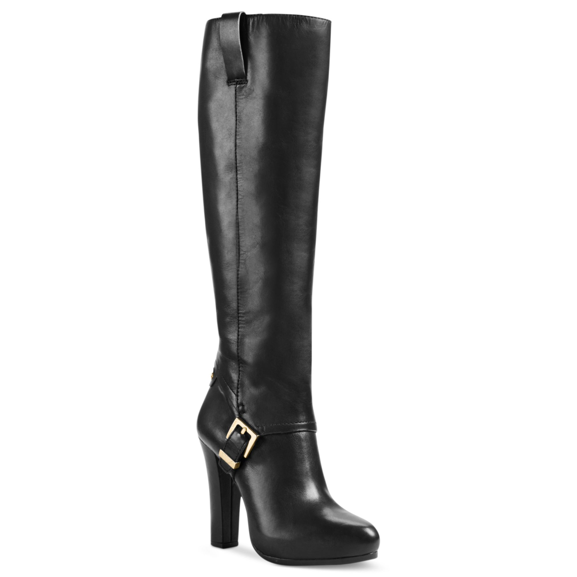 michael kors tamara high heel dress boots in black black