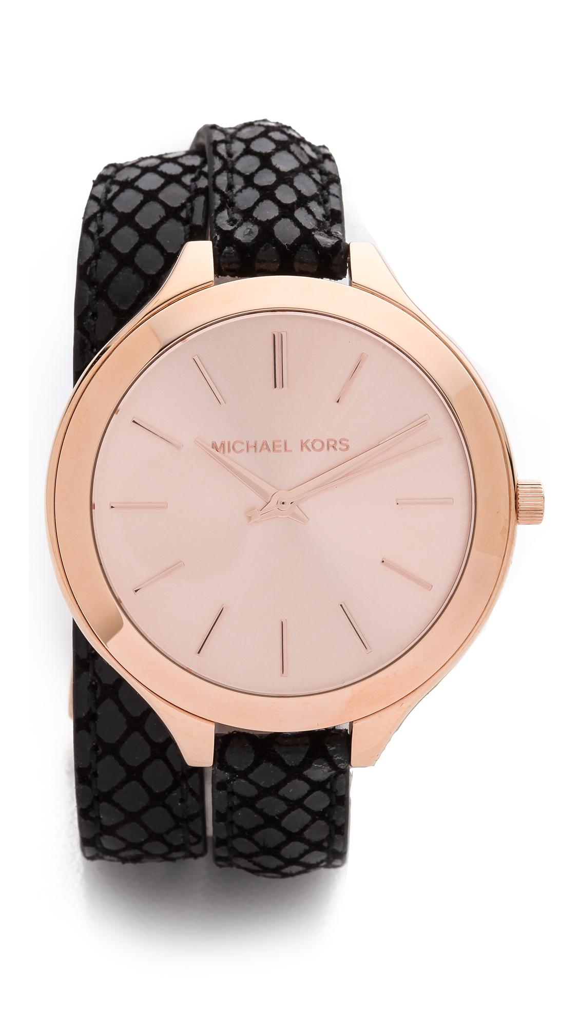 f52e05854dd3 Michael Kors Slim Runway Gold Tone Ladies Womens Wrist Watch MK3275.  Loading... Gallery