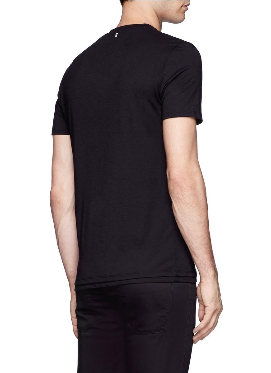 Neil barrett Geometric Skull Printed T-shirt in Black for ...