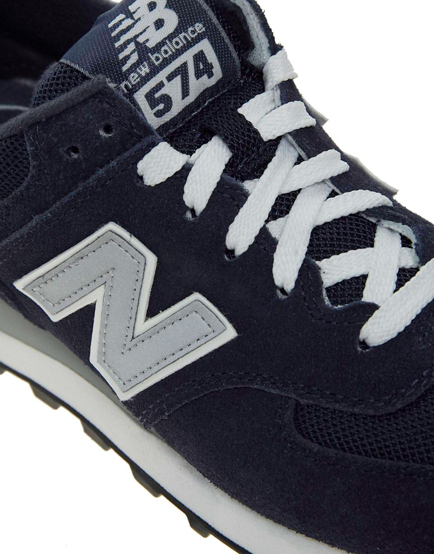 new balance 574 trainers navy