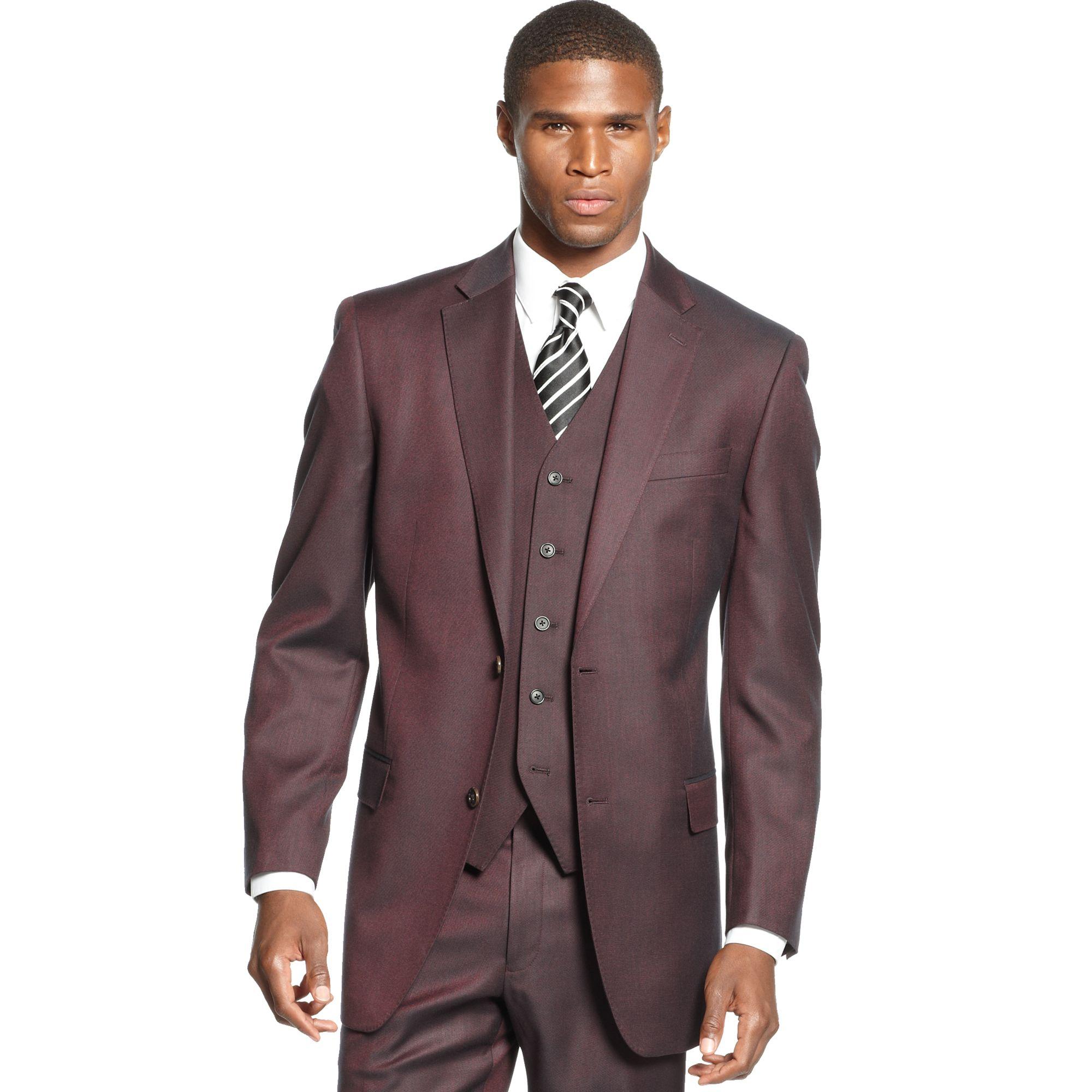 Lyst - Sean John Wine Neat Jacket in Red for Men